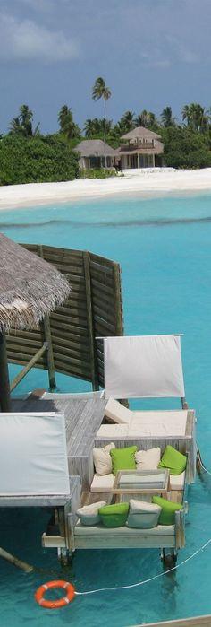 Chillout zone in Maldives