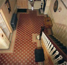 Victorian Tile Foyer Floor