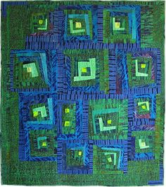 Vaguely Logcabin by Kate Dowty.  QuiltFest 2015.  Contemporary Quilt (UK).