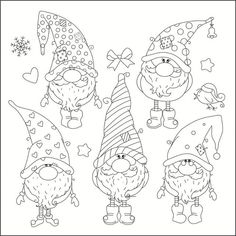 Look what I found on AliExpress Christmas Gnome, Christmas Colors, Christmas Art, Vintage Christmas, Easy Christmas Drawings, Christmas Paintings, Illustration Noel, Christmas Illustration, Colouring Pages