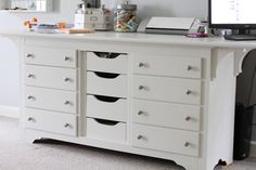 From dresser to crafting table