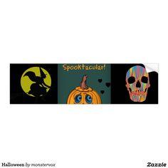 Halloween Bumper Sticker #Skull #Skeleton #Holiday #Halloween #Flower #Rose #Party #Sticker #BumperSticker