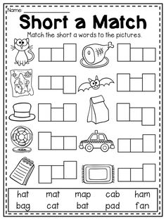 Mega CVC Worksheet Pack - Pre-K Kindergarten - Distance Learning Short A Worksheets, Vowel Worksheets, English Worksheets For Kids, Reading Worksheets, Kindergarten Worksheets, In Kindergarten, Learning English For Kids, Toddler Learning, Phonics Activities