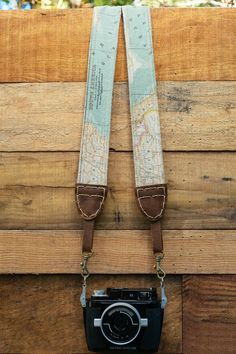 Map Camera Strap for DSLR Hand Made Double by KhayaCollectiveSA