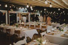 Bunting as wedding decor.