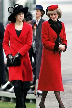 Kate Middleton at Sandhurst Military Academy to watch Prince William passing out as a commissioned officer on December 15, 2006 and the Princess Of Wales arriving in birmingham for an official visit.