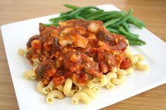 Hearty tempeh and mushroom pasta! LOVE this easy weeknight meal! (vegan)