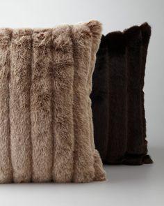 Faux Fur Pillows at Neiman Marcus.