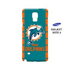 Miami Dolphins Custom Samsung Galaxy Note 4 Case Cover Wrap Around