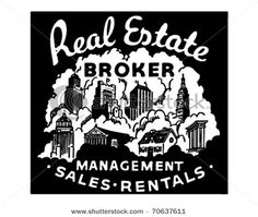 Clip art for real estate broker, management, sales, rentals
