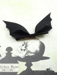 Black Bat Hairbow by LaMuerteDulce on Etsy, $4.00
