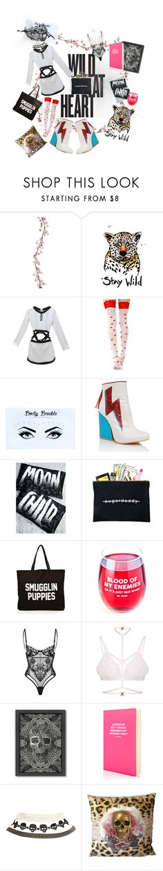 """""""Wild at heart marvelous dress 🖤👌"""" by maijah ❤ liked on Polyvore featuring Music Legs, Body Bauble, Y.R.U., Killstar, Dimepiece, Greeving Cards, Jac Vanek, Kamilla White, Americanflat and Wet Seal"""