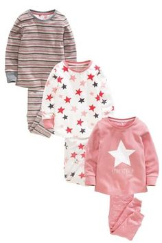 Buy Three Pack Star Struck Snuggle Pyjamas (12mths-8yrs) from the Next UK online shop