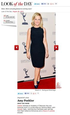 Amy Poehler on InStyle.com's Look of the Day wearing HOL Vintage