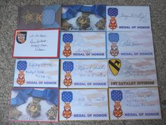 100 US CONGRESSIONAL MEDAL OF HONOR RECIPIENTS  AUTOGRAPHS/SIGNED INDEX CARDS-