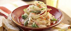 Pasta con cangrejo en salsa blanca - Cocina y Vino
