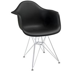 AD-Crafted out of molded plastic for the seat and a metal pyramid base, this chair is ultra comfortable and versatile and can be used to decorate any space.#chair #decor