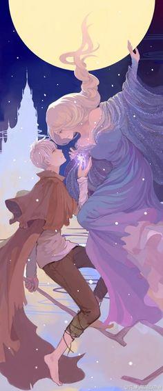 冰雪奇缘x守护者联盟 唯美同人图的搜索结...@爬回来累成狗采集到美少年美少女(2366图)_花瓣动漫