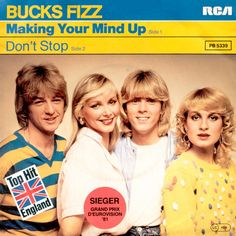 """Making Your Mind Up"" performed by Bucks Fizz. UK entry and winner of Eurovision 1981."