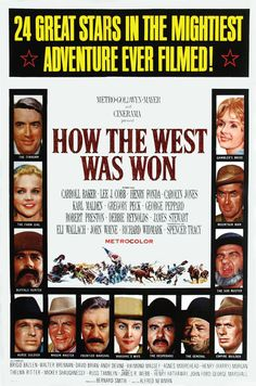 1962 movie poster | Description Poster - How the West Was Won.jpg