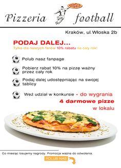 Konkurs na facebooku zrealizowany dla Pizzerii Football z Krakowa.