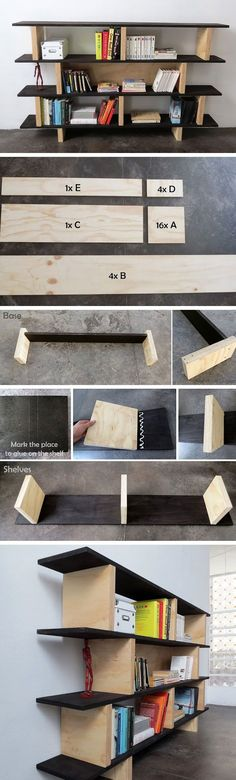 Super Simple Block Bookshelf | Click Pic for 25 DIY Small Apartment Decorating Ideas on a Budget | Organization Ideas for Small Spaces
