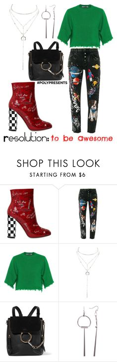 """""""#PolyPresents: New Year's Resolutions TO BE AWESOME"""" by giddygalmvr on Polyvore featuring Dolce&Gabbana, Valentino, Charlotte Russe, Chloé, Trina Turk, contestentry and polyPresents"""