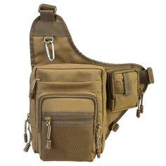 Fishing Bag Fishing Lure Bag Polyester Waist Shoulder Fishing Lure Reel Tackle Bags Bait Box