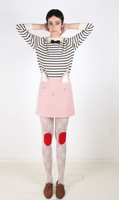 how adorably whimsical is this velvet cat skirt from Vivetta complete with nose, eyes, whiskers & ears that poke up from the waist