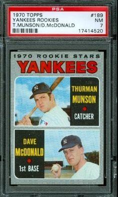 1970 Topps #189 - Thurman Munson (RC) - PSA 7 -- New York Yankees Rookie by Topps. $150.00. 1970 Topps #189 - Thurman Munson (RC) - PSA 7 -- New York Yankees Rookie