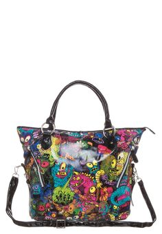 86ae13b8c8f Iron Fist - PARTY MONSTER - Tote bag - multicoloured Cute Handbags
