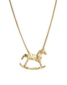 Enlarge And Mary Rocking Horse Necklace
