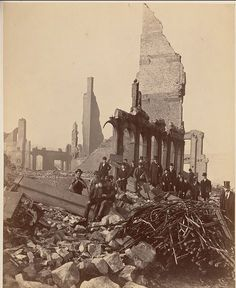 Federal Street after the Great Boston Fire of 1872. Photographed by James Wallace Black.