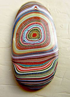 Original Fordite Cabochon / Measures 1 1/4 by NorthernLightsLapArt, $42.00