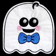 ghostie2 - Sew in the Hoop Treat Bag Machine Embroidery Design