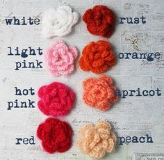 Mohair Crochet Flowers