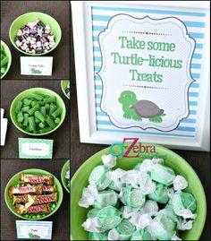 Turtle Baby Shower Ideas | A to Zebra Celebrations