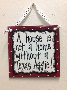 Texas Aggie Wall Decor Ceramic Tile Hand Painted by TWOPINKDOTS, $12.00