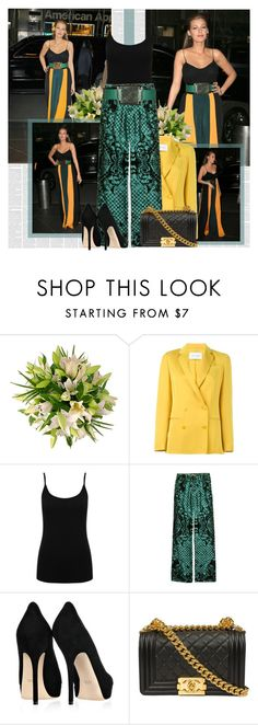 """""""Blake"""" by bklana ❤ liked on Polyvore featuring Cédric Charlier, M&Co, Balmain and Gucci"""