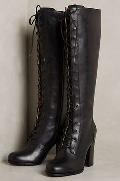 Anthropologie - Frye Parker Tall Lace-Up Boots