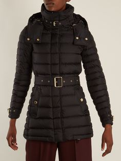 moncler longline quilted coat