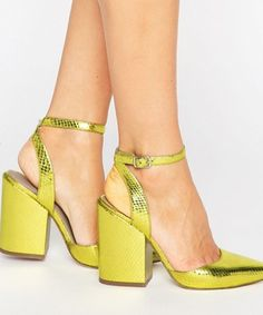 Shop ASOS PICK N MIX Pointed Heels. With a variety of delivery, payment and return options available, shopping with ASOS is easy and secure. Shop with ASOS today. Strappy Shoes, Pumps Heels, Shoes Sandals, High Heels, Stilettos, Block Heels Outfit, Dress Shoes, Platform Block Heels, Pointed Heels
