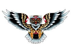 Owl Tattoo by UnicornKiddo.deviantart.com.. would be very cool with maybe a diamond in his talons?