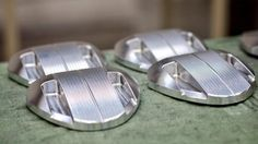 "June 24, 2014: ""Stainless steel sole weight w/ aluminum head creates high MOI for forgiveness  accuracy. #Ketsch: Milled at PING HQ,"" Ping Golf, showing us a brand-new batch of Ketsch putter heads."
