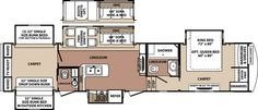 """Blue Ridge Fifth Wheel by Forest River 3715BH 40'7"""""""