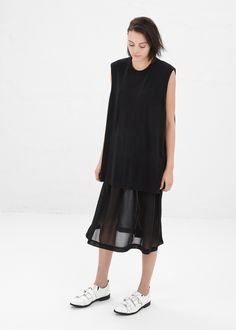 Comme des Garcons Tank Dress in Black #totokaelo #commedesgarcons