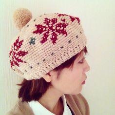 minne(ミンネ)| 雪のベレー帽。