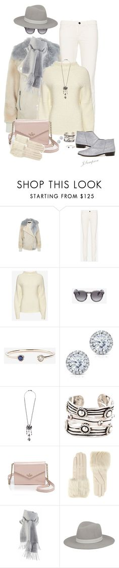 """""""Brisk Sunny City Afternoon"""" by shadedlady ❤ liked on Polyvore featuring J Brand, 19Fifth, Kobelli, Valentino, Kate Spade, Ted Baker, Janessa Leone, women's clothing, women's fashion and women"""