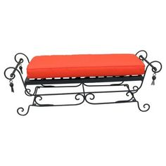 Check out this item at One Kings Lane! 1960s Wrought Iron Bench
