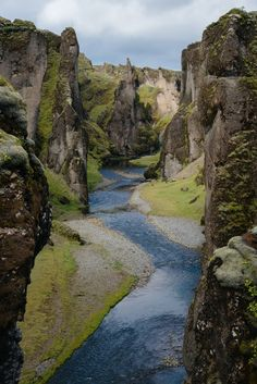 Travel to Iceland and explore the beautiful Fjaðrárgljúfur canyon in the south east of the country - up to 100 m deep and 2 km long!